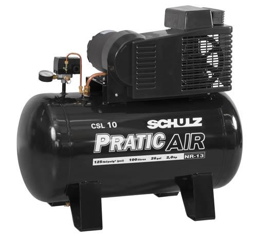 Compressor Schulz Pratic Air CSL 10 100L 2cv 12aecbcdc0