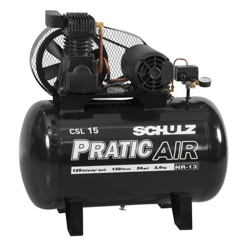 Compressor Schulz Pratic Csl 15 130L 3Cv b8728e03e0
